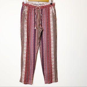 Rachel Zoe Boho Paisley Drawstring Linen Pants